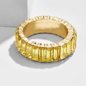 BaubleBar Alidia Light Topaz Ring, sz 9
